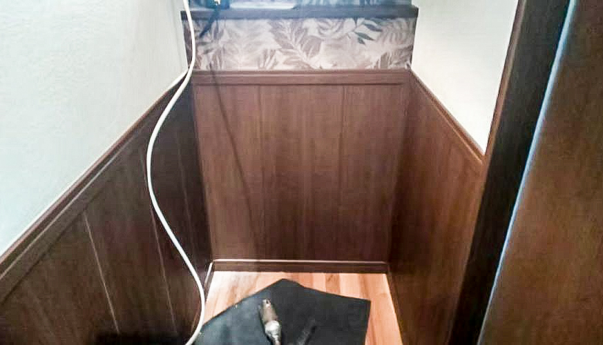 岐阜市衣類乾燥機の乾太くん取付け工事前写真